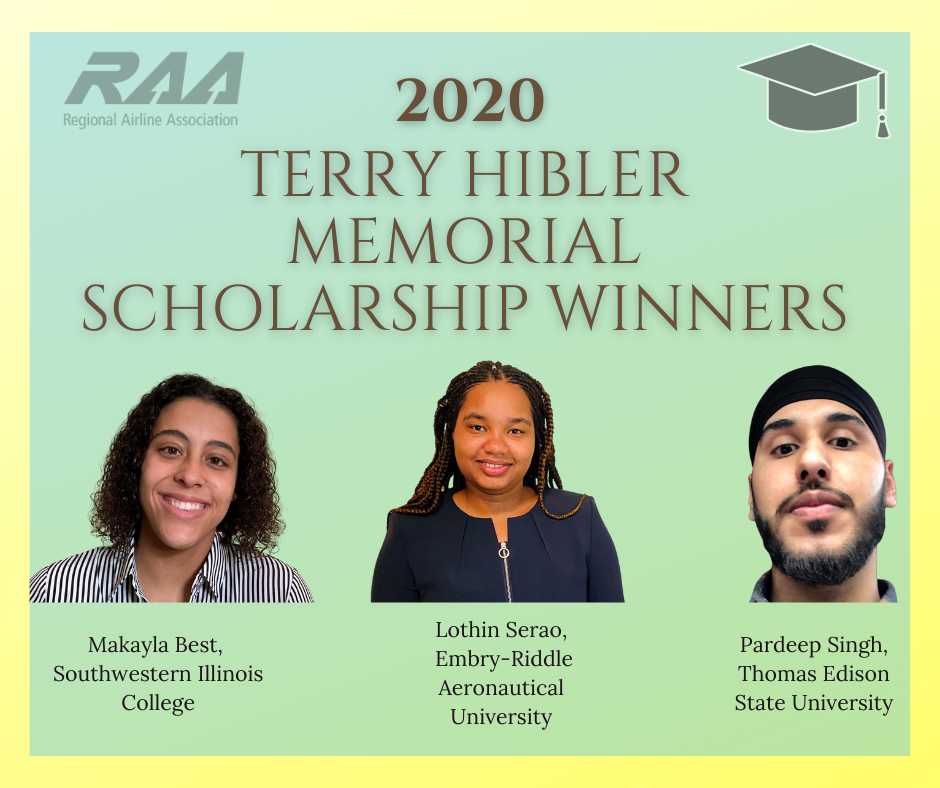 2020 Terry Hibler Memorial Scholarship Winners- Makayla Best, Lothin Serao, and Pardeep Singh
